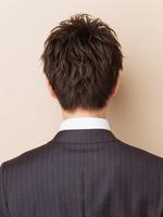 黒髪!さわやか!ビジネスショート! BACKサムネイル