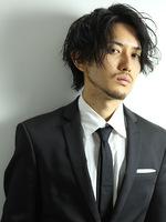トラッドマッシュ ビジネスマン 髪型 メンズヘア 男性髪型 FRONTサムネイル