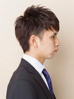 ツーブロック黒髪ビジネスショート SIDEサムネイル