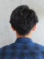 クイック ジェントルマン黒髪ショート BACKサムネイル