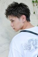 【ウェットブラスト】×【ソフトアシメ】 FRONTサムネイル