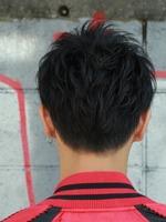 黒髪スプラッシュショート BACKサムネイル