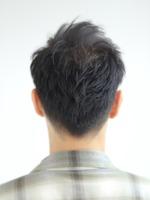 【ワイルドツーブロック】黒髪ショート BACKサムネイル
