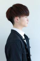 韓国風マッシュ  黒髪ヘア FRONTサムネイル