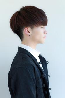 韓国風マッシュ  黒髪ヘア