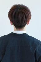 韓国風マッシュ  黒髪ヘア BACKサムネイル