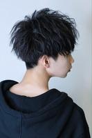 前下がりバランス【ルーズフェザーマッシュ】 BACKサムネイル