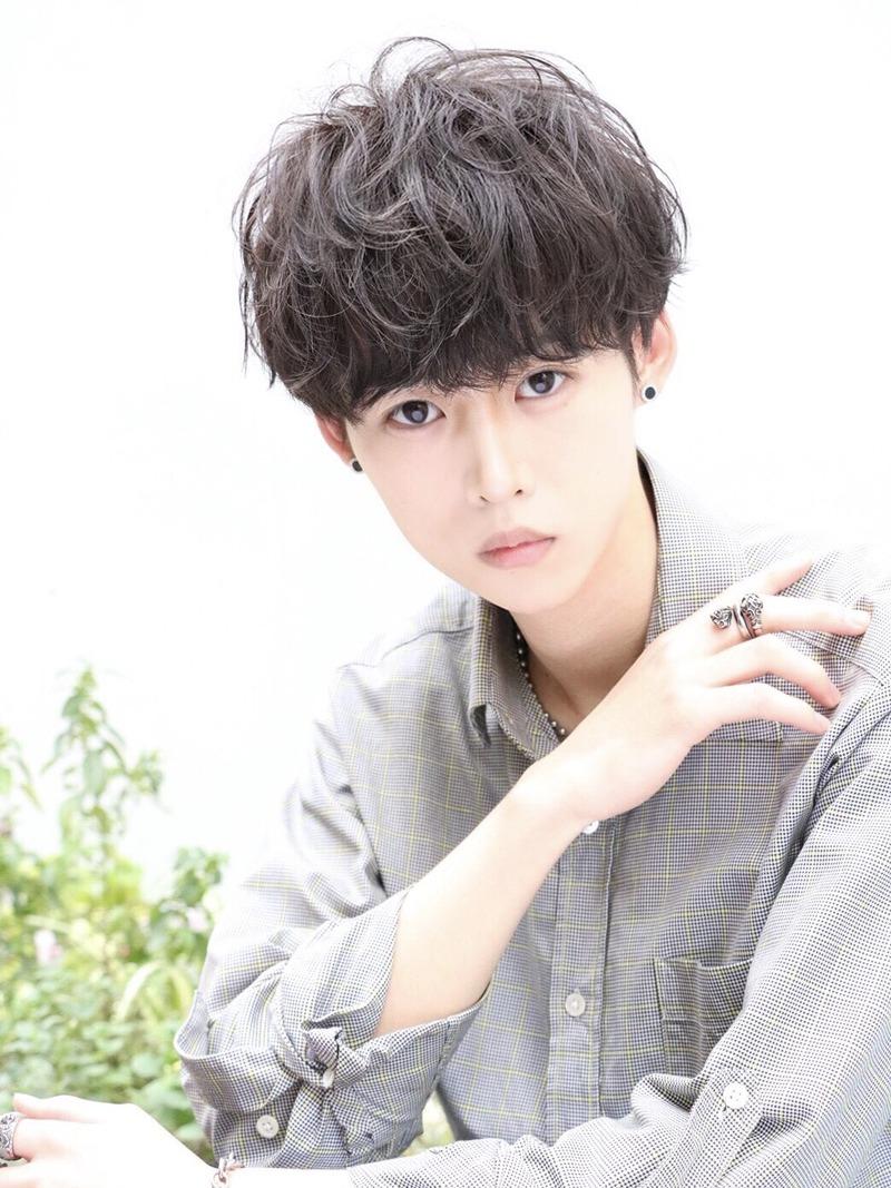 黒髪×パーマ【ルーズメイクマッシュ】 FRONT