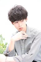黒髪×パーマ【ルーズメイクマッシュ】 BACKサムネイル