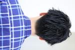 【黒髪でもパーマの束感】刈上げマッシュ BACKサムネイル
