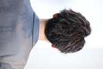 【ビジネスヘアー】ツイストスパイラル刈上げショート BACKサムネイル