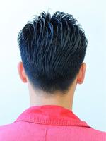 黒髪2ブロアップバング BACKサムネイル