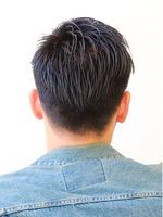 黒髪2ブロックショート BACKサムネイル