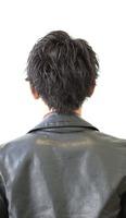 黒髪センターアップバング!襟足なし!! BACKサムネイル