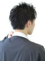 【黒髪リバースウェットショート】 BACKサムネイル
