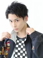 【黒髪リバースウェットショート】 FRONTサムネイル