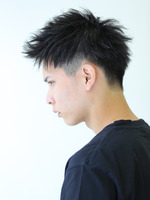 黒髪アップバング SIDEサムネイル