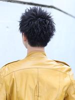 黒髪エッジアップバングショート BACKサムネイル