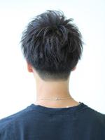 黒髪ツーブロック刈り上げミニマッシュ BACKサムネイル