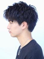 黒髪 無造作 かき上げアップバングショート SIDEサムネイル