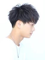 黒髪 刈り上げツーブロックコンパクトマッシュ FRONTサムネイル