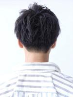 黒髪ツーブロック刈り上げマッシュ BACKサムネイル