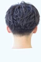 黒髪無造作 刈り上げ スレイブショートマッシュ BACKサムネイル