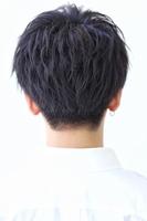 黒髪前下がりショートマッシュ ツーブロ刈り上げ BACKサムネイル