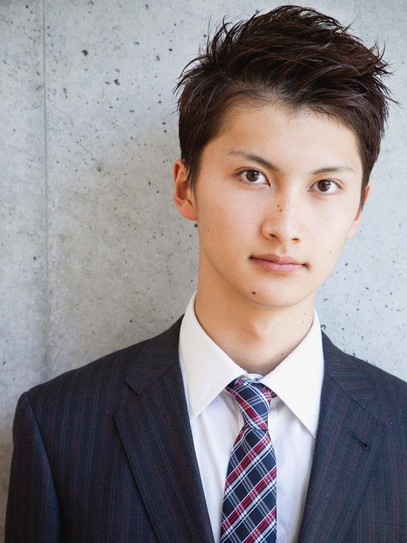 黒髪ウェットメンズショート FRONTサムネイル FRONT · 黒髪