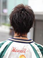 ゆるめパーマ!【センターパート】×【ルーズスパイラル】 BACKサムネイル