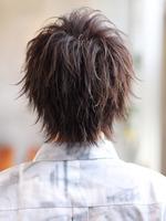 【リラックスウルフ】2ブロックスマートイメチェンウルフ BACKサムネイル