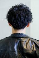 黒髪スパイラル×2ブロックマッシュ コンマバング BACKサムネイル