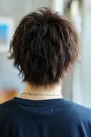 ルーズパーマ【クリアウルフ】ツーブロック BACKサムネイル