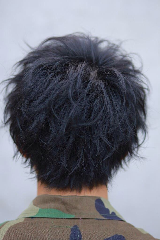 hair style with stick 王道ショート 215 エアブラストmixパーマ メンズ 髪型 大宮 mens hairstyle メンズ 5895