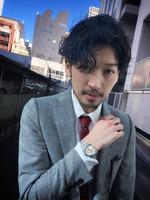 ビジネスマン メンズパーマ スーツスタイル FRONTサムネイル