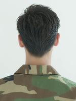 オールバック 73分け メンズ髪型 刈り上げヘア BACKサムネイル
