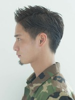 オールバック 73分け メンズ髪型 刈り上げヘア SIDEサムネイル