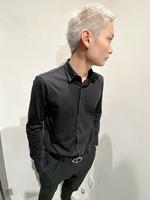 短髪 メンズヘア 刈り上げ ブリーチカラー  BACKサムネイル