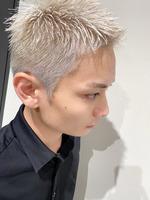 短髪 メンズヘア 刈り上げ ブリーチカラー  SIDEサムネイル